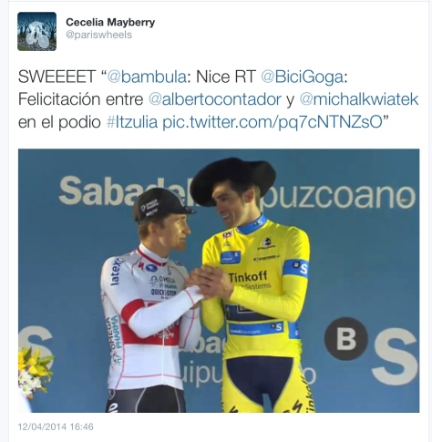 G Contador in hat