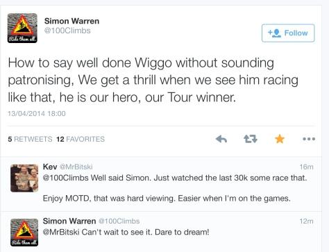 PR after Wiggins ride glowing