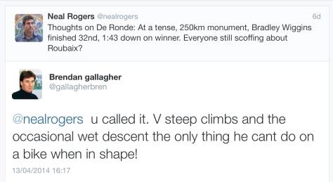 PR after Wiggins ride wet