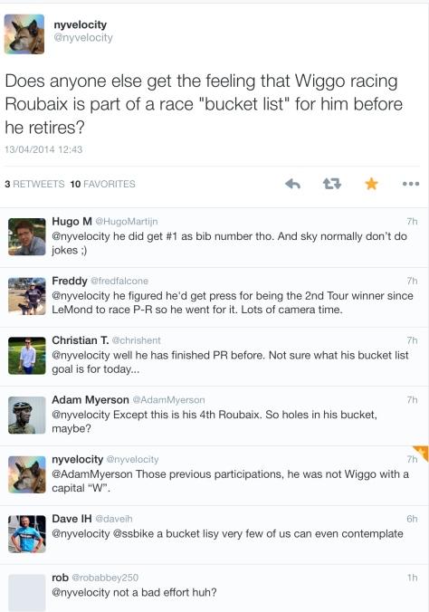 PR after Wiggins ride bucket
