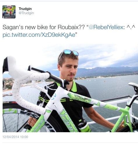 PR before Sagan bike