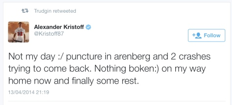 PR after Kristoff injury