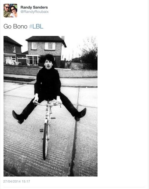 LBL Bono on a bike