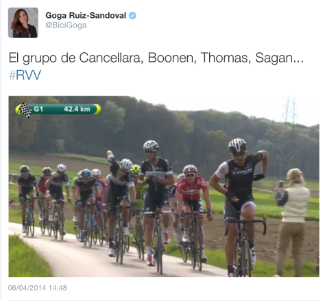 RVV on course Boonen group