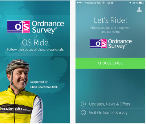 OS Ride app screenshot