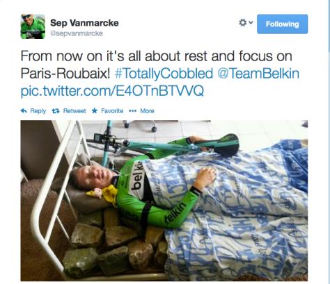 RVV aftermath Vanmarcke bedtime