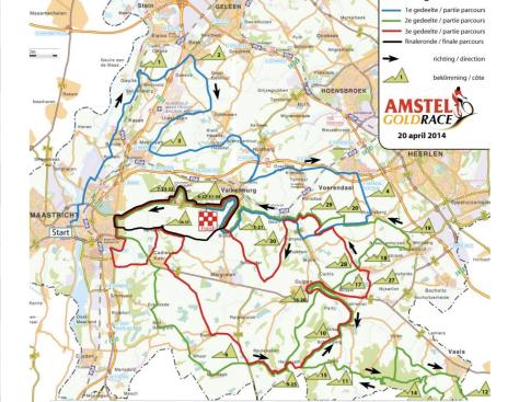 Amstel Gold 2014 parcours
