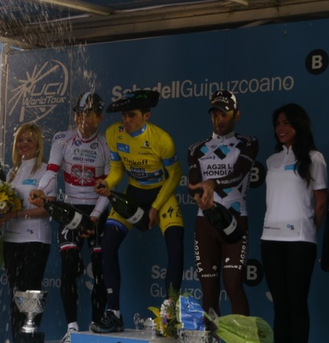 The podium demonstrates their dexterity with the cava (image: Richard Whatley)
