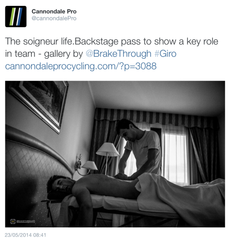 Giro Cannondale massage