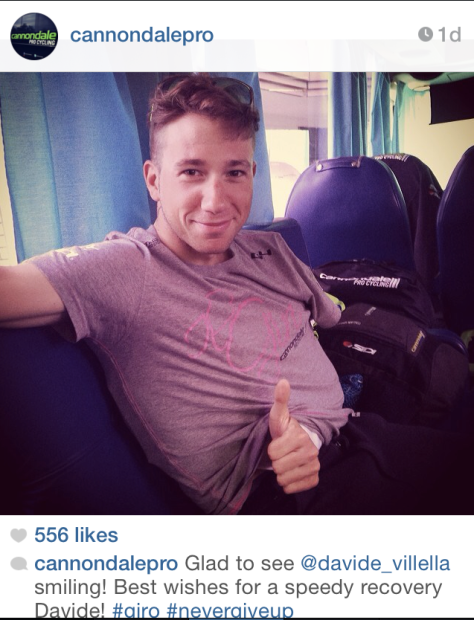 Giro crash abandon 1