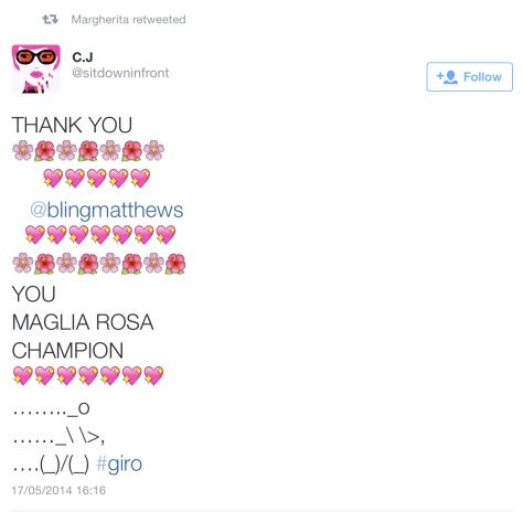 Giro goodbye Bling