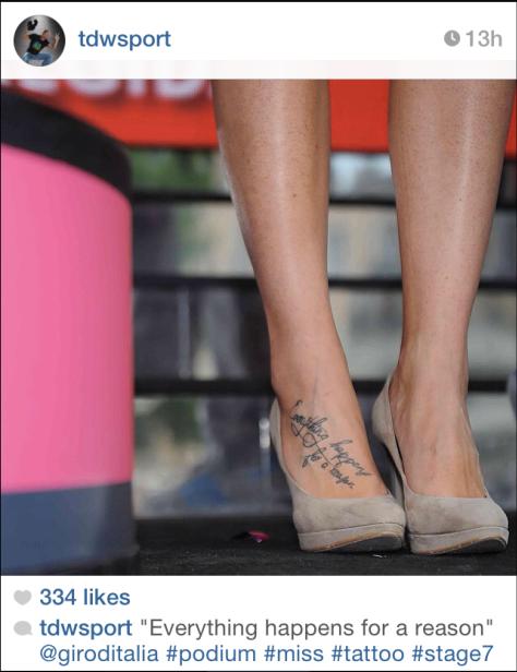 Giro podium girl tattoo