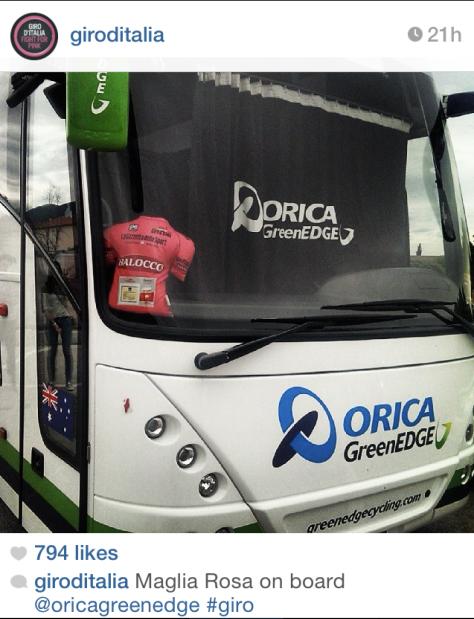 Giro rosa on board