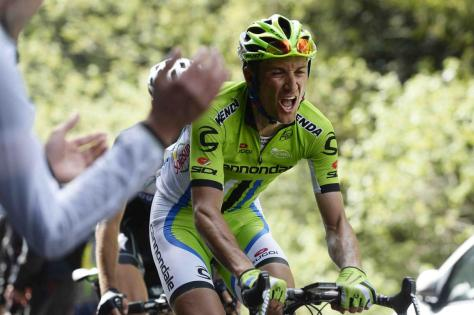 The pain is all too evident on Basso's face (Image: Giro d'Italia)