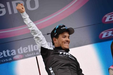 A stage win - and almost certainly the blue jersey for Arredondo (Image: Giro d'Italia)