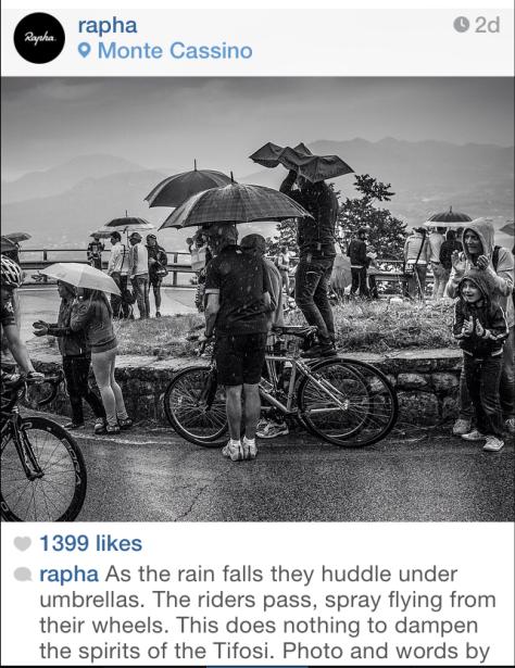 Giro tifosi rain
