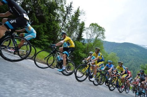 A crash negated his two stage wins, but Froome and Sky will probably be satisfied with their week's work (Image: B Papon)