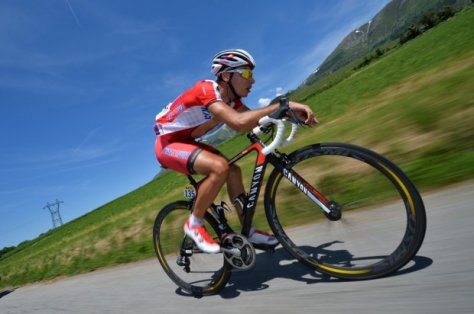 Spilak soloed home on stage 5 (Image: B Papon)