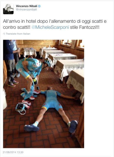 G Nibali on floor