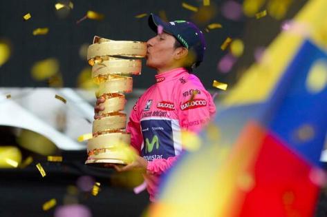 Giro 2014 stage 21 Nairo Quintana trophy Giro