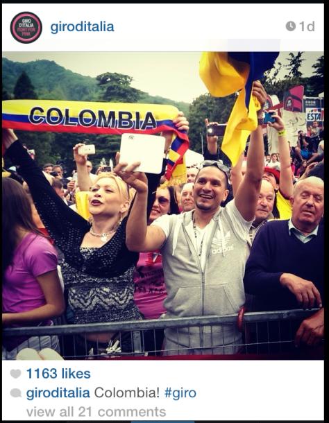 Giro Colombian fans