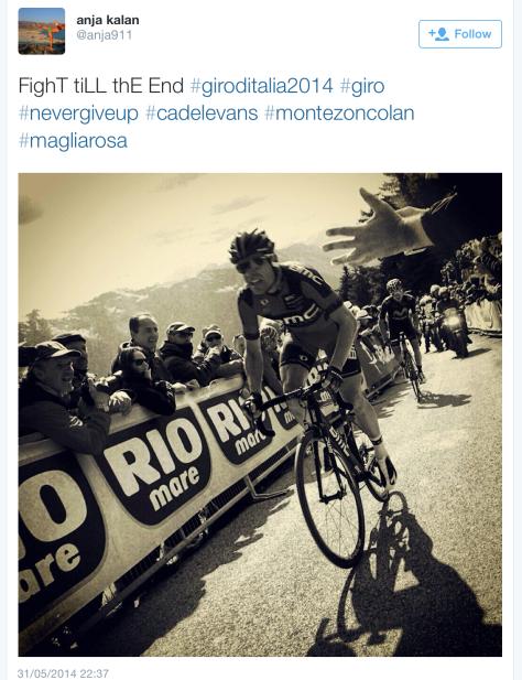 Giro Zoncolan Cadel