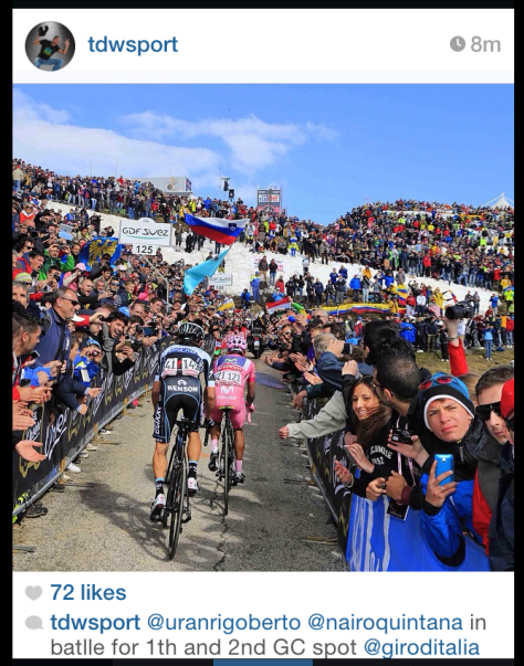 Giro Zoncolan Quintana uran