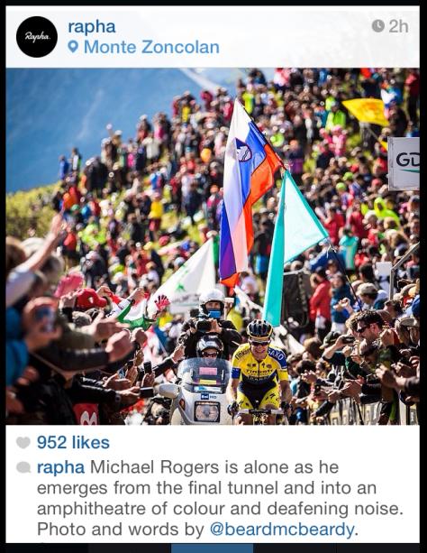 Giro Zoncolan Rogers finish 2