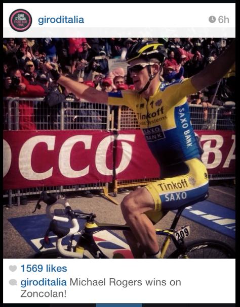 Giro Zoncolan Rogers finish