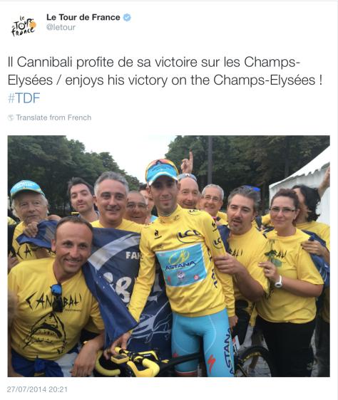 celebrate Nibali
