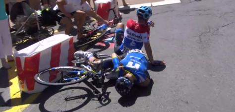de la Cruz crash Tour de France 2014 stage 12