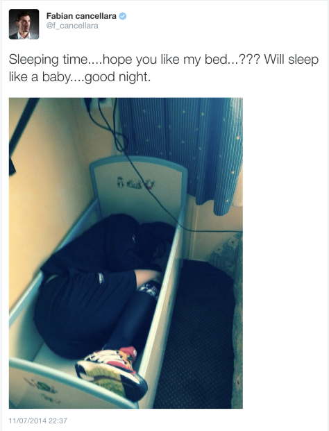G Cancellara sleeping time
