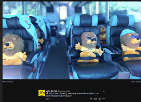 G Lions on a bus