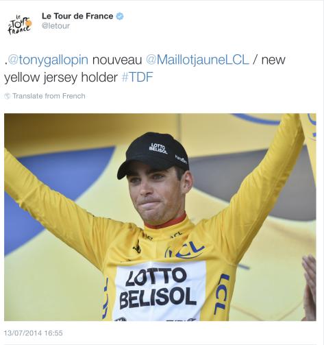 St 9 Gallopin in yellow