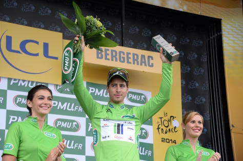 Sagan still in green, still without a win (Image: ASO/X Bourgois)