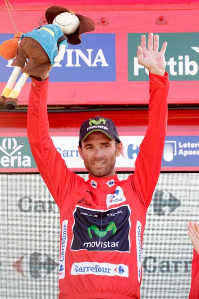 Valverde has defied expectation and remains in contention in the GC (Image: Vuelta website)