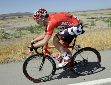 It was a long, hot day in the saddle for Ligthart (Image: Vuelta website)