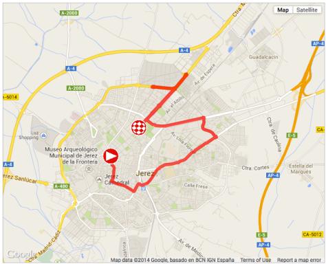 Vuelta stage 1 2014 map