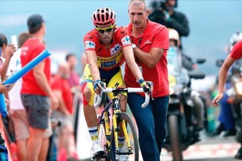 Alberto Contador Vuelta stage 16 2014