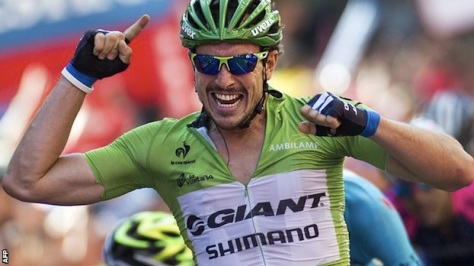 The Vuelta has its very own jolly green Giant(-Shimano) (Image: Vuelta website)