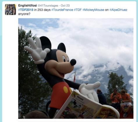 TdF Alpe d'Huez mickey
