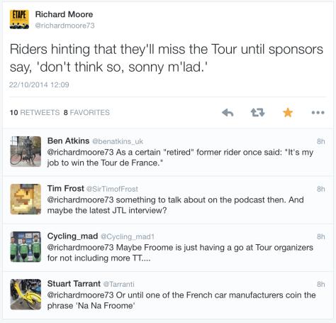 TdF Froome tweet 11