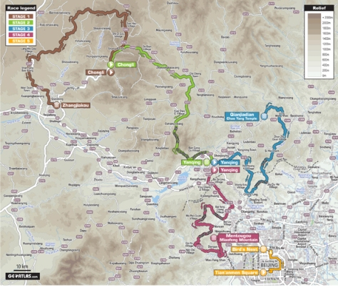 Route for Tour of Beijing 2014