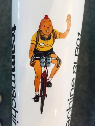 Tintin on the top tube. (Image via BMC twitter)