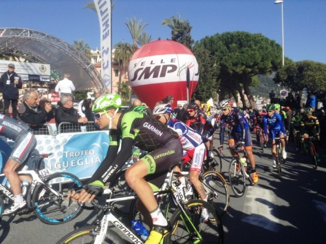 Ted racing in Laigueglia (image: Sheree Whatley)