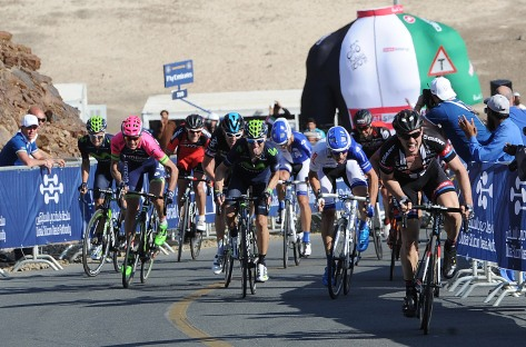 Degenkolb powers to victory on the 17% ramp at the end of stage three (Image: Dubai Tour)