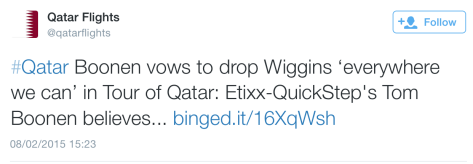Qatar Boonen Wiggins drop