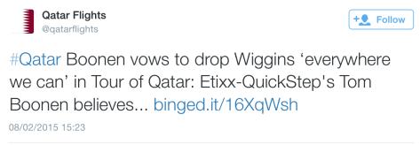 Qatar Boonen Wiggins drop