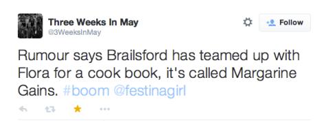 G Brailsford margarine gains