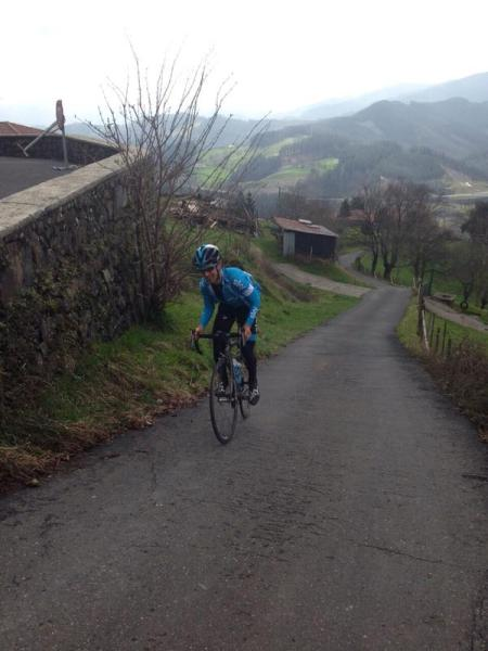 Here's Sky's Mikel Nieve training on the Antigua (image: Sky)